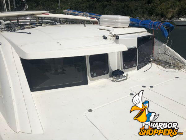 Catamaran top deck
