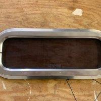 """Aluminum Plexiglass Tinted Portlight 16.5"""" X 7.5"""""""