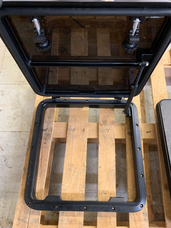 Bomar Skylight Metal Plexiglass Black (New)