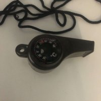 Safety Whistle with Compass & Thermometer