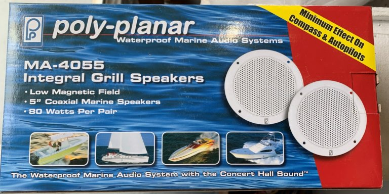 Poly-Planar MA-4055 Integral Grill Speakers 5'' / 4''