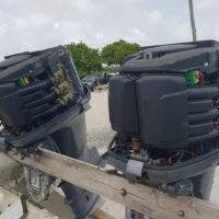 Pair of 2007 Yamaha 225HP Outboard Engines c/w Harnesses and Shift