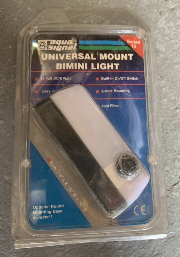 AquaSignal Universal Mount Bimini Light 3 5/8 x 15/16 x 13/16 Series 16