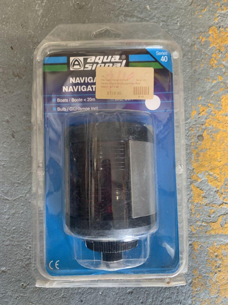 AquaSignal Port Navigation Light Red Series 40 w/ bulb