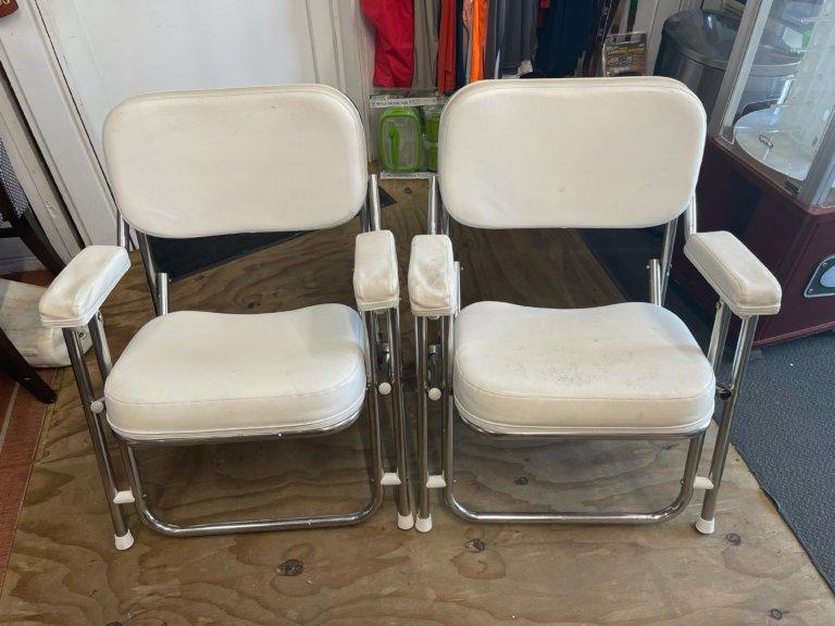 Kingfish II Stainless Steel Folding Deck Chair (Used)