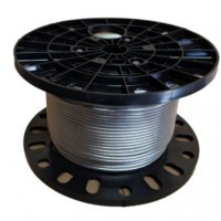 """3/16"""" - 7X19 STAINLESS STEEL T316 AIRCRAFT CABLE (350' Roll)"""